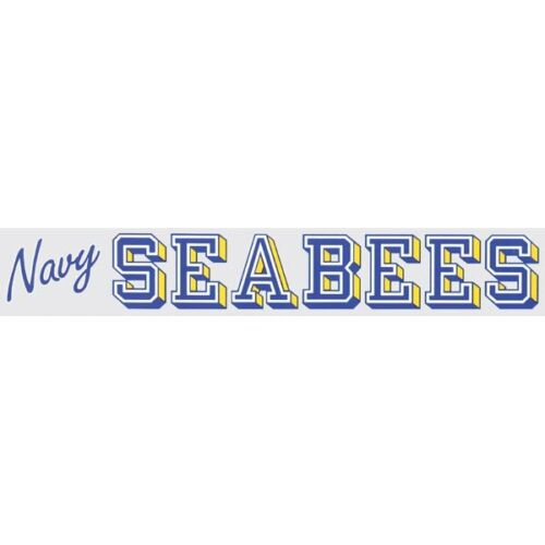 """NAVY SEABEES 13/"""" inch Window Strip NAVY Outside Decal Sticker OFFICIAL USA Made"""
