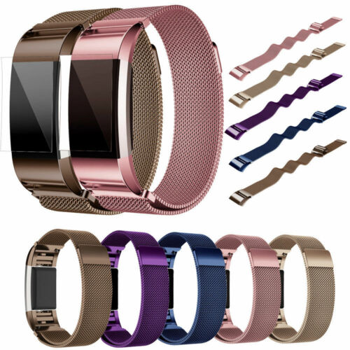 For FitBit Charge 2 Wristband Metal Stainless Steel Magnetic Loop Band Strap