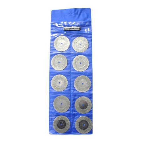 10x diamond discs ø22mm ø35mm ø50mm for dremel proxxon sander