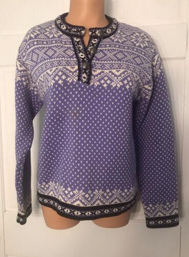 Vintage LL Bean Nordic Fair Isle Sweater Size S Li