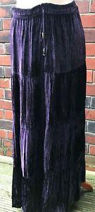 CavvaliniNieuwe grootte Tiered geen tagsGratis Four Bruna Velvet Skirt van Purple Nnwm8Ov0