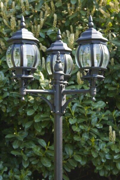 Lampioncino da giardino 3 Lanterne Lampione Lampada da esterno Antico NEW 30185