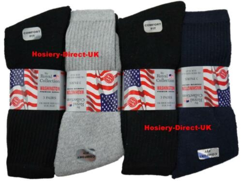 12 Mens Royal Collection Cotton Rich Washington Sport Socks UK 6-11 Assorted