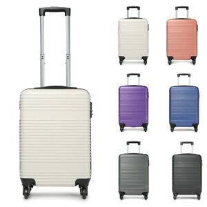 """20/"""" Rose Gold For easyJet PC Cabin Approved Spinner Trolley Luggage Suitcase Bag"""