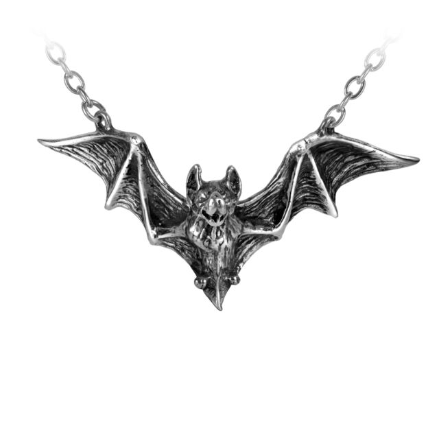 lace silver wings product necklace gothic bat eng pl pendant