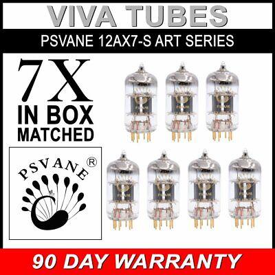 Gold Pins 2 pcs Psvane 12AX7-S Art Series Vacuum Tubes Gain Matched Pair