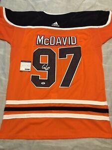 sports shoes 83397 97320 Details about Connor Mcdavid Signed Autographed Edmonton Oilers Jersey MVP  Psa/Dna