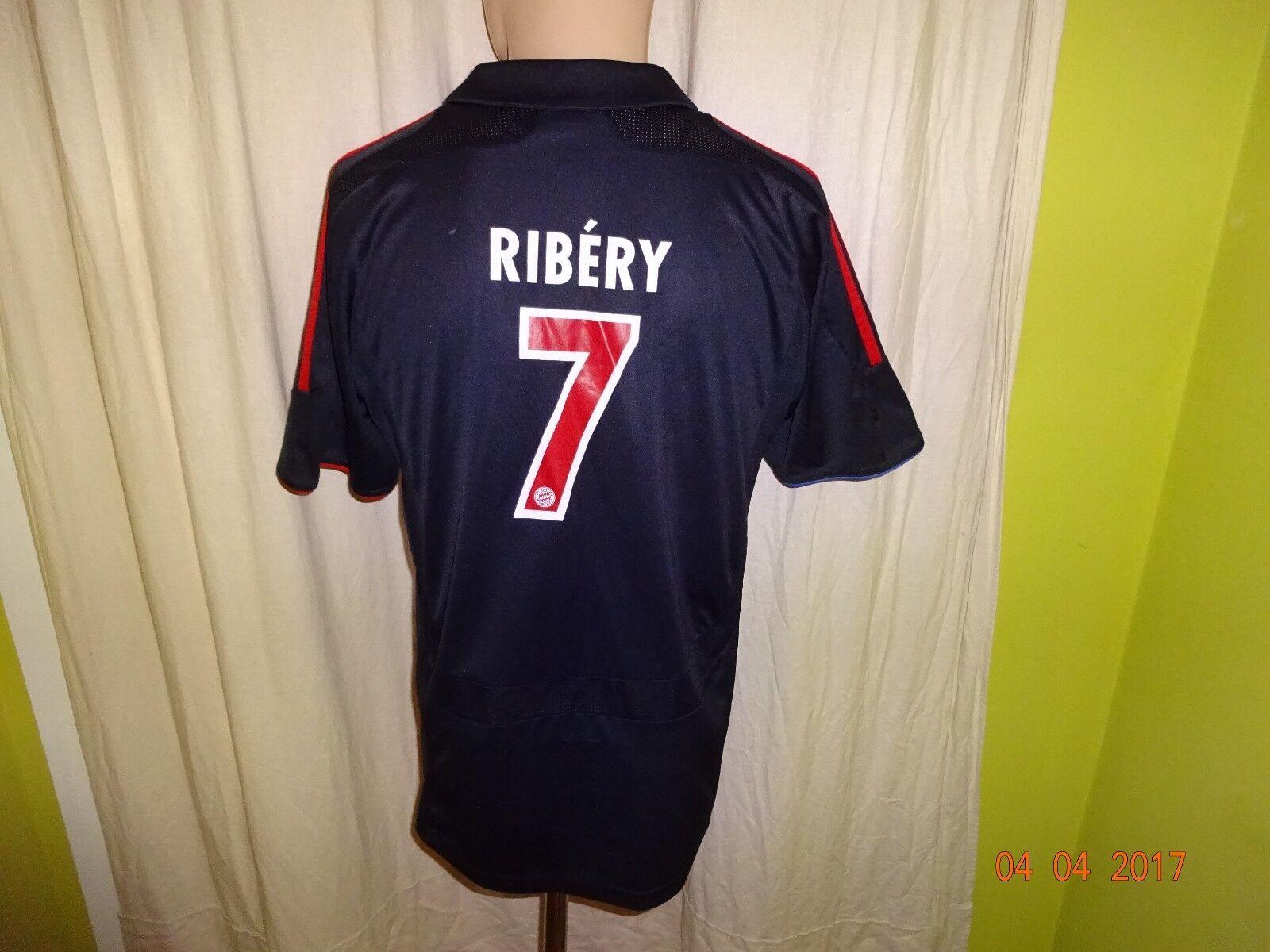 FC Bayern München Adidas Europa-Pokal Trikot 2007 08 + Nr.7 Ribéry Gr.S- M TOP