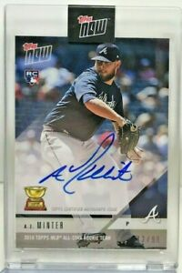0ae9298f7 A.J. Minter 2018 Topps Now Baseball RC on-card Autograph Auto #'d 12 ...