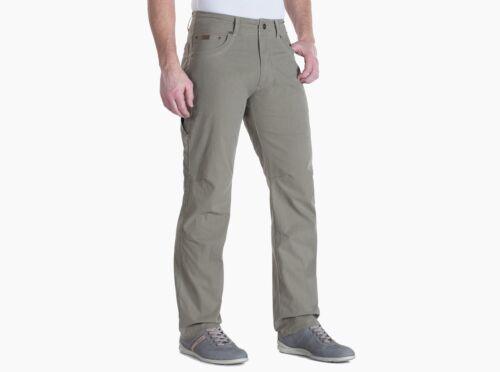 Kuhl Revolvr Mens Lightweight Pants Full Fit Carbon Khaki and Gunmetal colors