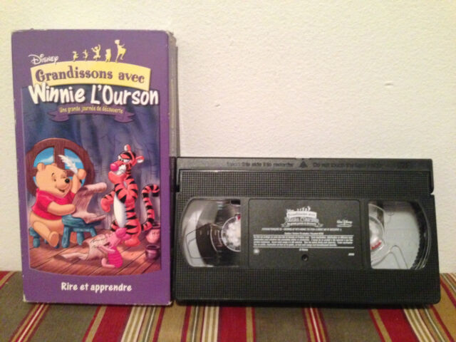 Growing Up With Winnie The Pooh A Great Day Of Discovery VHS tape &sleeve FRENCH