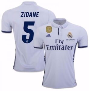 super popular ba7c7 dcb49 Details about ADIDAS ZINEDINE ZIDANE REAL MADRID FIFA PATCH HOME JERSEY  2016/17 CARDIFF LEGEND