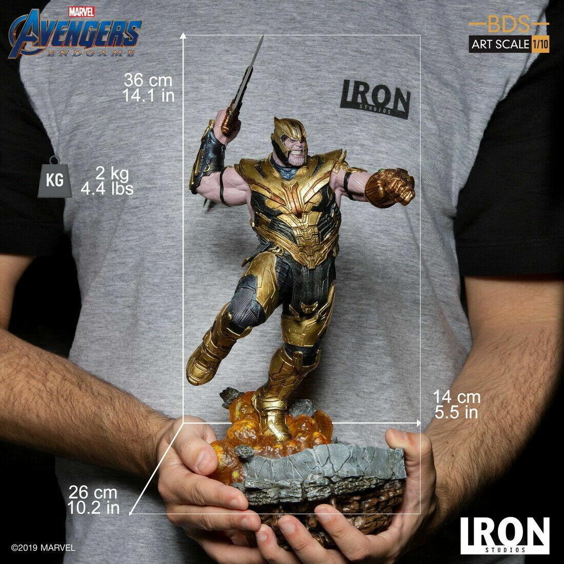 Iron Studios Avengers 1 10 Thanos Statue  Endgioco cifra Set Deluxe Version  controlla il più economico