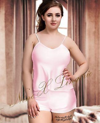 In Raso Da Donna X Nine Pj 's Set Plus Size Lingerie Babydoll 8-24 Pigiama Sleepwear-mostra Il Titolo Originale