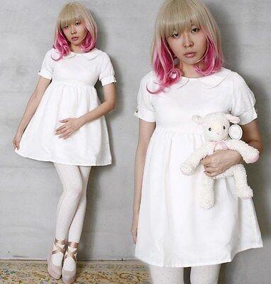 Japan Angelic Cutie Gyaru Bridal Empire Waist BabyDoll Nurse Tulle Overlay Dress