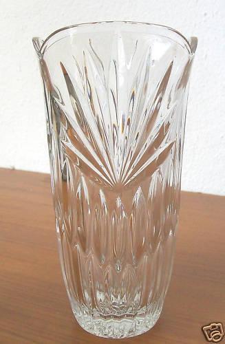 neu unbenutzt OVP Vase aus Kristallglas W.Germany