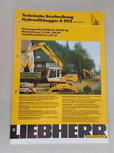 Data Sheet / Technical Description Liebherr Hydraulic Excavators A 902 From 02/