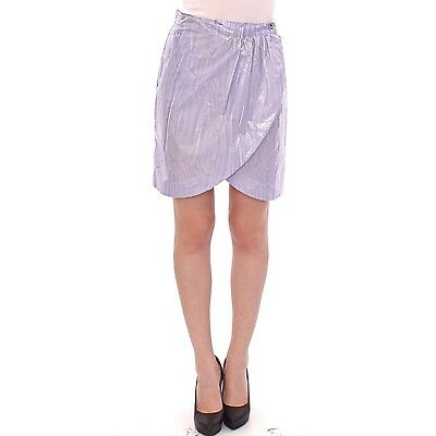 NWT $400 Licia Florio Purple Viscose Above-Knee Wrap Skirt IT40 / US6 / EU36 / S