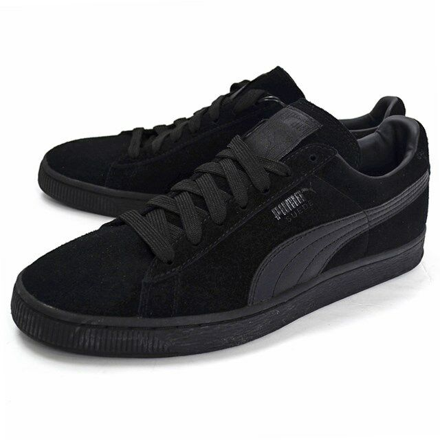 Puma Gamuza hombres Clásico Negro Rojo Tibetano Zapatos Tenis Informales Para hombres Gamuza 36324231 b1c9a2