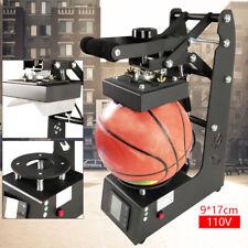 9x17cm Ball Heat Press Transfer Machine Basketballfootballrugby Logo Printer