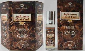 Musk Oud 6 x 6ml woody, Oudh Perfume Oil/ Attar  By Al Rehab