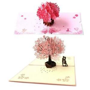 3D-Up-Kirschblueten-Karte-Geburtstag-Hochzeit-Valentinstag-Jahrestag-G-B5L6