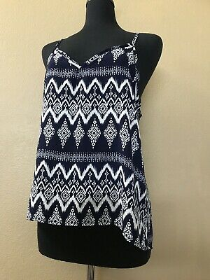 Styled By V-Neck Dip Back Cami vest S M L XL Cobalt deep orange Navy ivory black