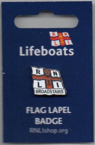 RNLI Broadstairs Flag Pin Badge Lifeboat Charity Badge