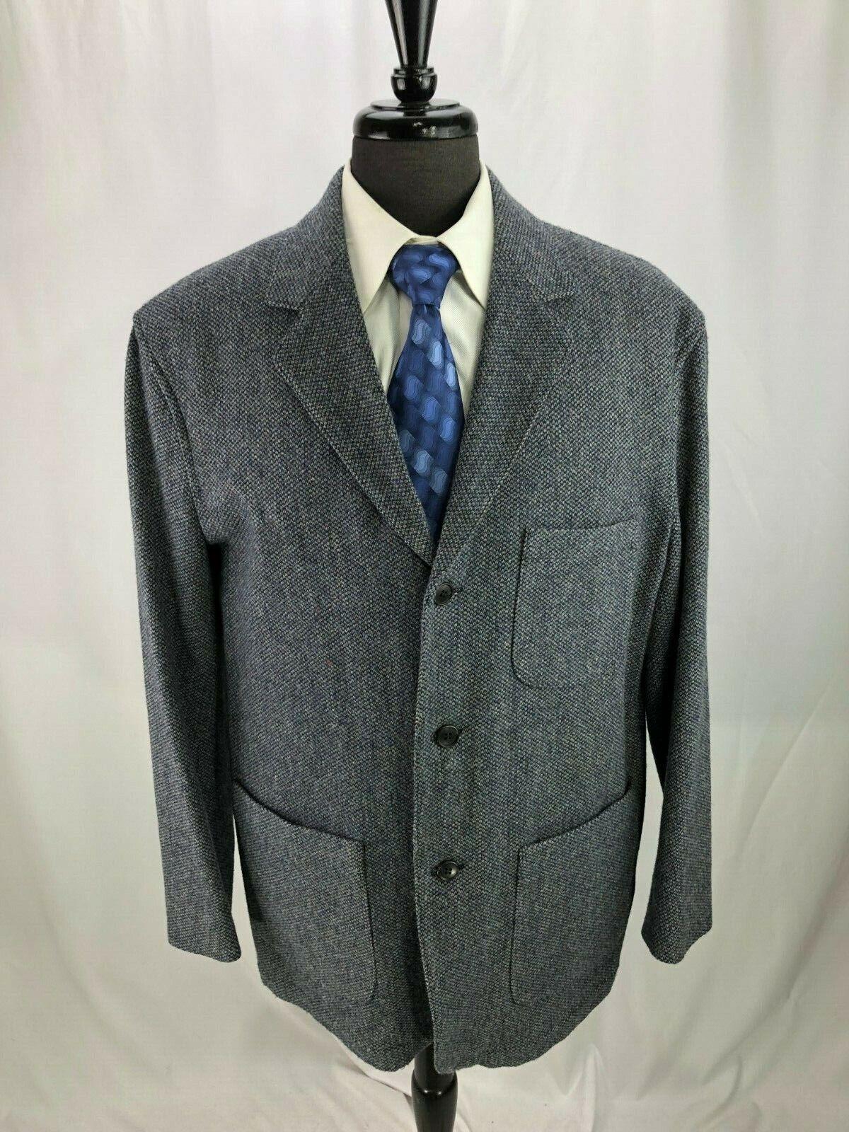Pendleton patrimonio Edición Limitada Para Hombre  Chaqueta Blazer de lana azul L 44R  diseño simple y generoso