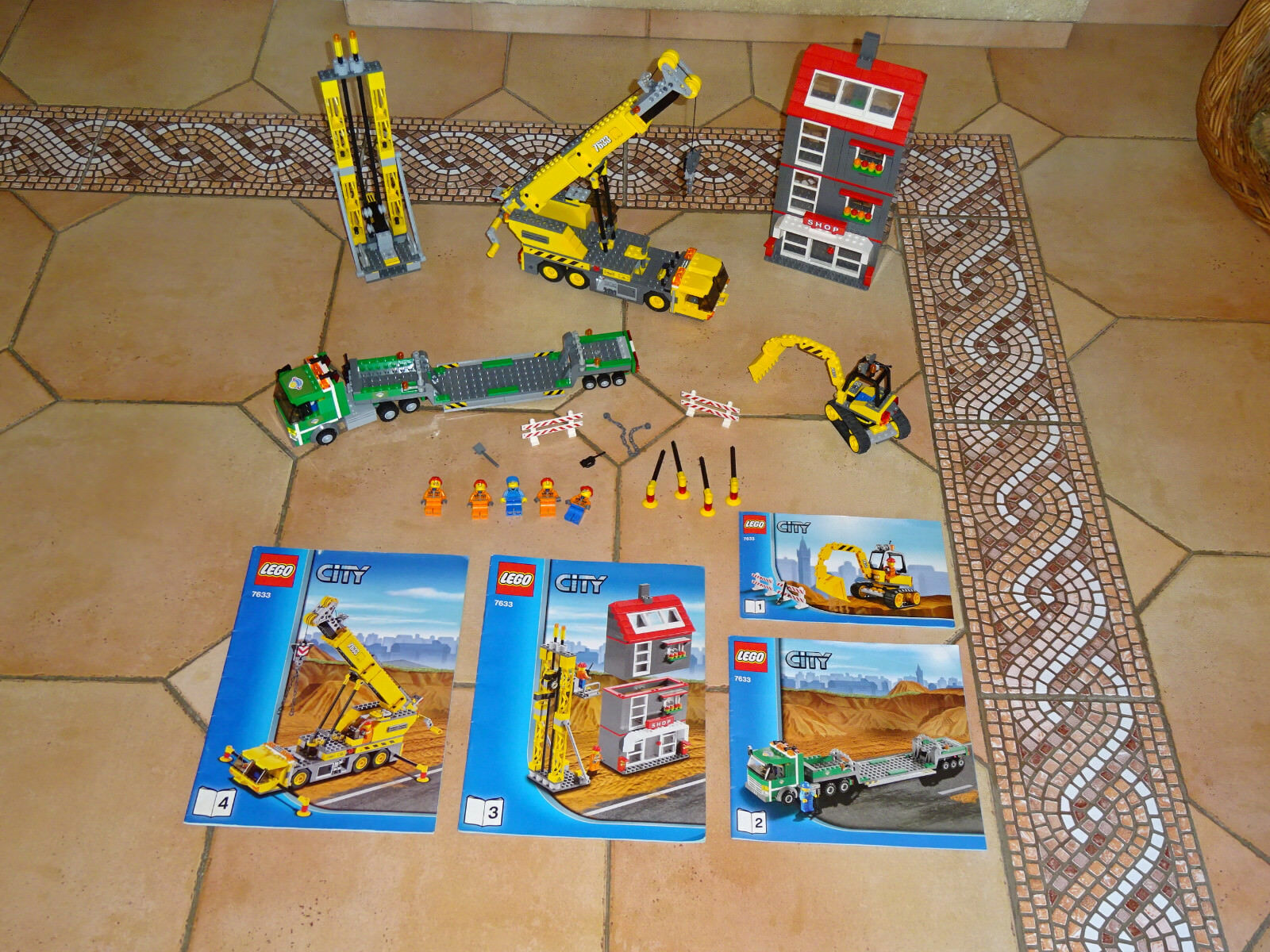 LEGO City Construction Site. 7633, 100 % Complete BOITE NOTICE RARE.