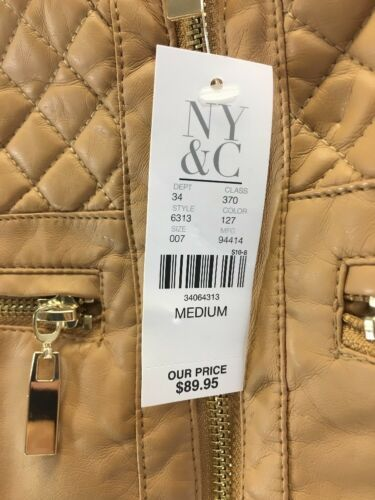 34064313 Nwt pelle da Medium moto donna sintetica in New Company Giacca York wFP7xqvTv