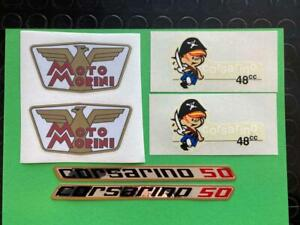 Complete Kit Decals To Dry + Stickers Motorcycle Morini Corsarino 50 Super