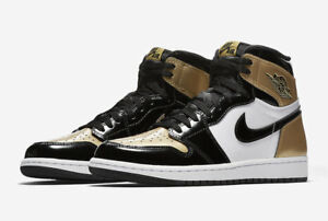 2e9b181df185 Nike Air Jordan 1 Retro High OG NRG 861428 007 Black Metallic Gold ...
