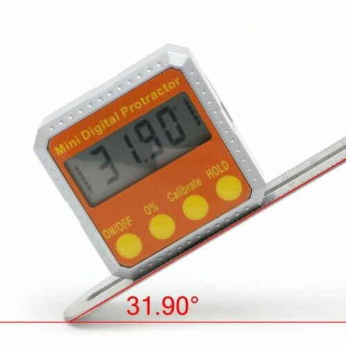 360° Digital Protractor Inclinometer Electronic Level Magnetic Angle Gauge Box