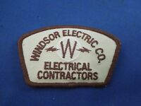 Windsor Electric Co Electrical Contractors Iron On Patch-trucker Hat Jacket Logo