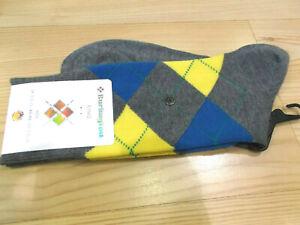 Sock-BURLINGTON-034-King-034-Grey-Blue-Yellow-3390-One-Size