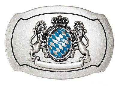 """Buckle Oktoberfest Gürtelschnalle """"2 Löwen Und Bayern Wappen"""" Oktoberfest üPpiges Design"""