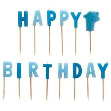 1st Birthday Blue Boy Pick Candles Party Celebration Cake Cute Accessory Candle