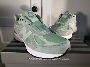New-Balance-990v4-Running-Shoes-Mint-Green-Mens-M990SM4-Made-In-USA
