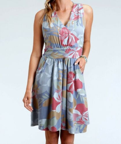 FRESH PRODUCE Medium Deep Dive Blue FRESH BLOSSOMS Lily Tank Dress $89 NWT New M