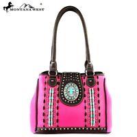Montana West Vegan Leather Spiritual Collection Handbag Hot Pink