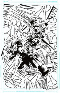 KEVIN SMITH/PHIL HESTER/ANDE PARKS GREEN ARROW/ONOMATOPOEIA ORIGINAL ART & WORDS