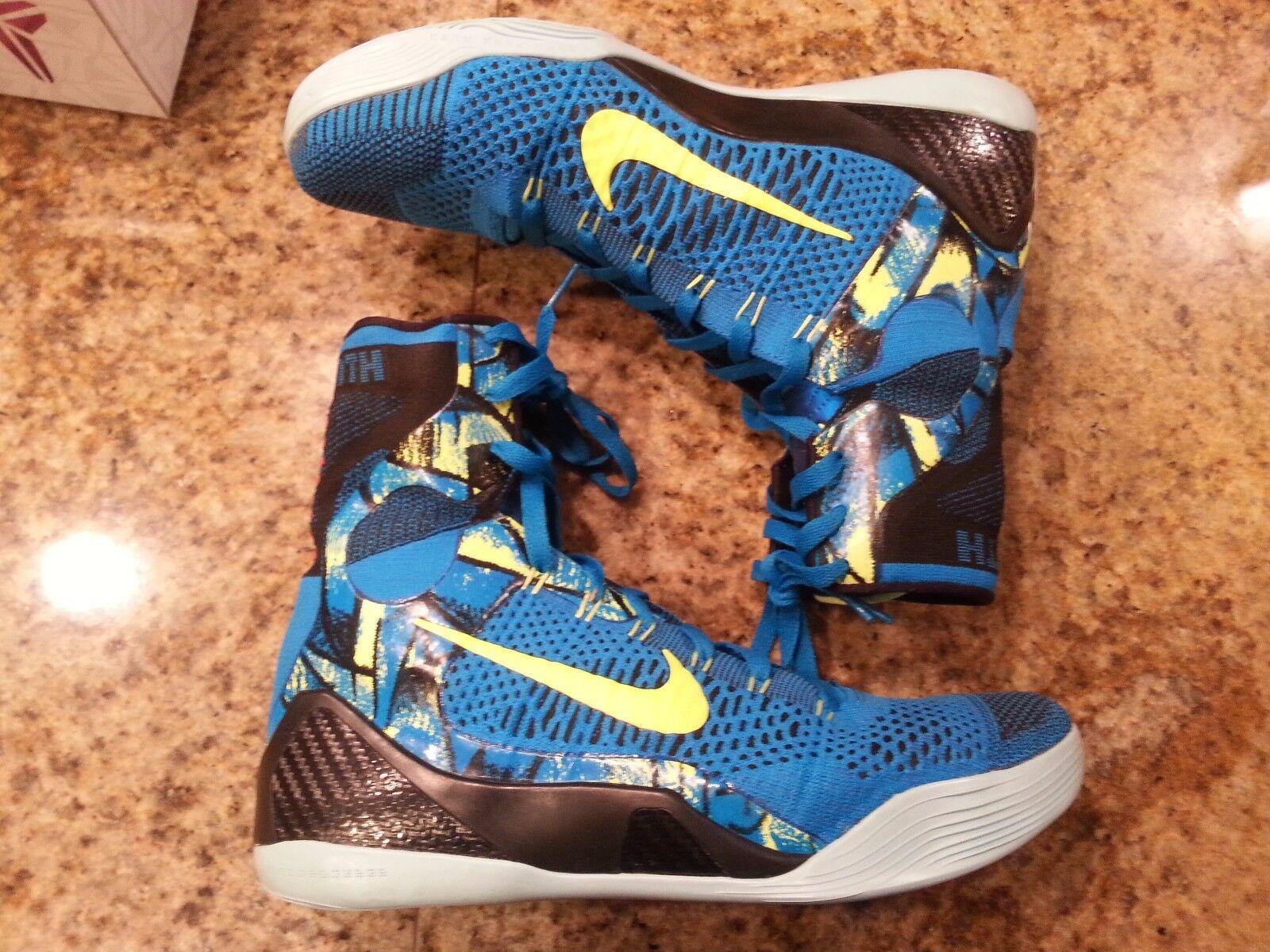 Nike kobe 9 ix elite prospettiva blu dimensioni 630847-400 jordan beethoven bhm