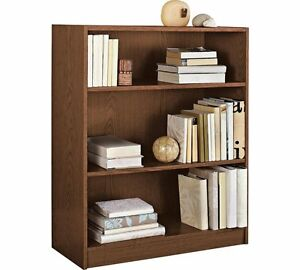 Image is loading Walnut-Deep-Bookcase-11-Inch-Shelving-Unit-Wood-  sc 1 st  eBay & Walnut Deep Bookcase 11 Inch Shelving Unit Wood Bedroom Storage Kid ...