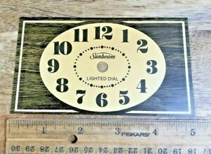 Vintage Sunbeam Electric Clock Dial Pan, Made of Paper Cardstock (K5689)