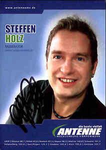 Radio-TV-Autogrammkarte-Autogramm-handsigniert-STEFFEN-HOLZ-Moderator-Autograph