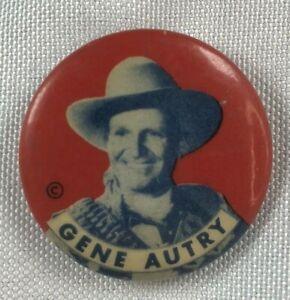 Vintage-GENE-AUTRY-Orvon-Grover-The-Singing-Cowboy-1-034-Pinback-Button-Lapel-Pin