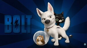 "002 Bolt - Disney Super Ability Dog Cartoon Movie 42""x24"" Poster"