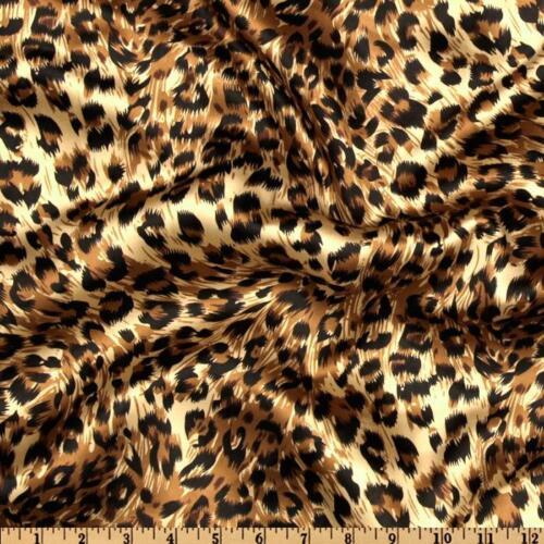 100 Cheetah Leopard Satin Napkins Handkerchief Animal Silky Charmeuse Printed