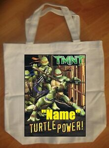 Details About Age Mutant Ninja Turtle Personalized Tote Bag New